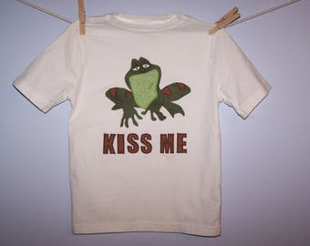 PRiNCeSS and the FRoG PRiNCe NaVeen Custom Boutique T SHIRT Tee HoLiDaY Vacation KiSS Me