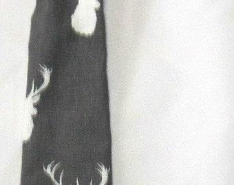 Grey and White Deer Tie, Boy Tie,White Buck Tie,Baby Boy Tie,Toddler Tie,Boy Cloth,Boy Accessories,Boy Christmas Tie,Bow Tie,Camo,Adjustable