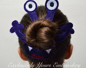 Monster Bun Pal Hair Accessory - Hair Pin - Bobby Pin - Hair Decoration - Sports - Clip - Hair Clip - Seasonal - Barrette