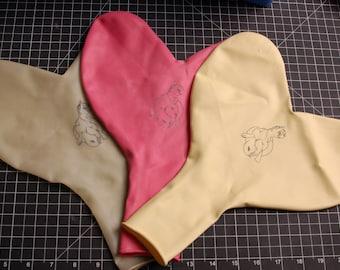 """3 - 36"""" Heart Pony Balloons!"""