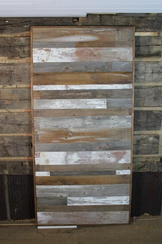 horizontal multi colored barn door room divider made to order. Black Bedroom Furniture Sets. Home Design Ideas