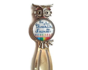 """""""OWL"""" paperclip bookmark """"Coolest nannies"""" /Nounou/ / Wonderland faby/gift/party / thanks"""