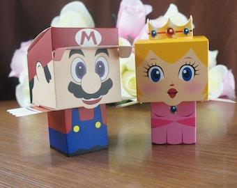 10 pc. Super Mario Princess Peach Party Favor Boxes