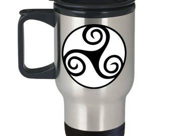 Celtic Gift, Irish Design, Travel Mug, Stainless Steel
