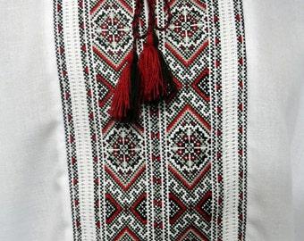 Handmade Vyshyvanka dress shirt for men Cotton-linen shirt men Handmade Embroidered shirts Ukrainian shirt Made in Ukraine Ukranian gift