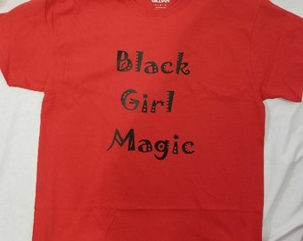 Black girl majic vinyl print woman's T-shirt S,M,L,XL