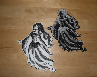 Ghost patches / Halloween ghost patch / iron on Patch
