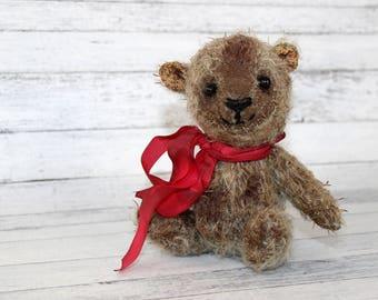 Maybella the Miniature 5 inch Artist Mohair Teddy Bear (HAFAIR)