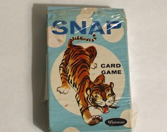Snap Card Game Vintage by Whitman Nice Box Complete Set 44 Cards