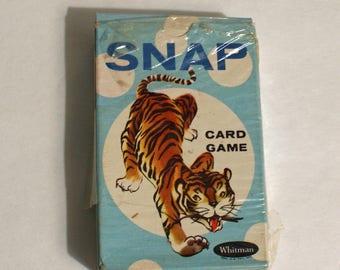 Snap Karte Spiel Vintage von Whitman schöne Box Komplettset 44 Karten