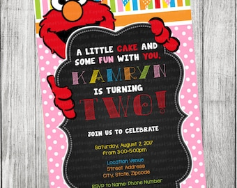 Elmo Girl Invitation