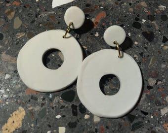 Handmade porcelain earrings