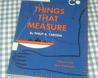 things that measure, vintage 1962 children's book