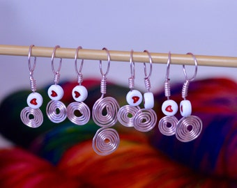 Snag free knitting stitch markers - Set of 8 each