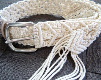 Macrame braided belt - Bohemian