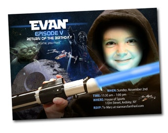 Free Star Wars Birthday Invitation Templates ~ Star wars invitation etsy