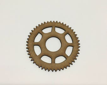 Steampunk Cogs Wooden MDF - 85mm - Decoration Card Making Craft - (3) - A9