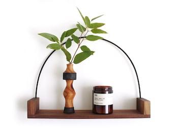 Hanging shelf, wall shelf, wooden shelf, reclaimed wood, shelf vase, hanging vase, hanging frame,