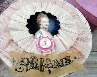 Marie Antoinette box - Dreams wood french OOAK papers handmade