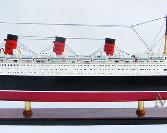 Museum Quality Queen Mary Ship Model