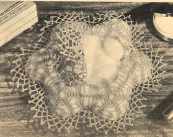 Vintage crochet patterns - cottonwool case