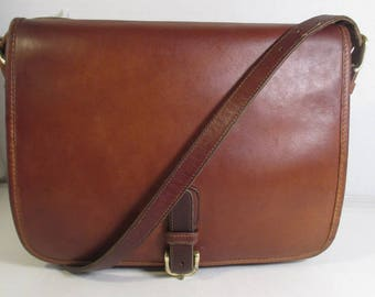 Coach Vintage Bonnie Cashin Tan Leather Large Buckled Pouch - USA Refurbished - GVC
