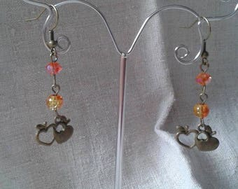 """apples in bronze duo"" earrings"