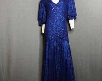 LILLIE RUBIN Beaded Dress Size: L