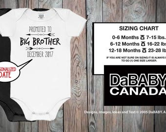 Pregnancy Announcement Personalized Promoted To Big Brother - Sibling Custom Bodysuit - Soon To Be A Big Brother - Birth Announcement Shirt