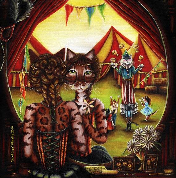 Circus Cats 5x7 Fine Art Print