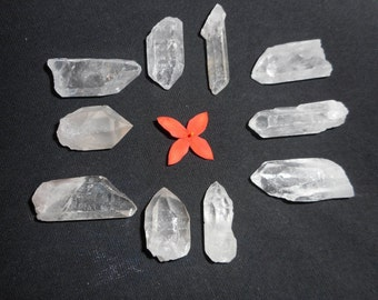 10 QUARTZ CRYSTAL POINTS Crystal Healing Reiki Set