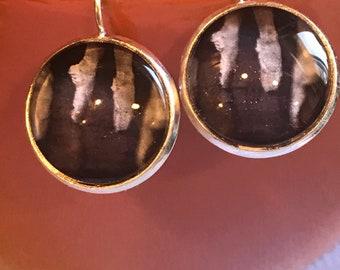 Ballet slippers cabochon earrings - 16mm