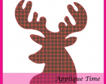 Instant Download Raggy Reindeer Machine Embroidery Applique Design 4x4, 5x7 and 6x10