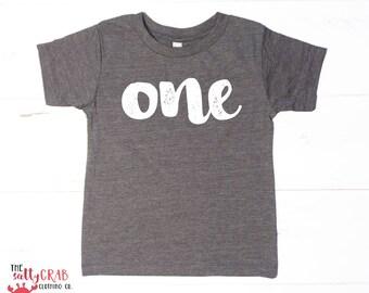 ONE - First 1st Birthday Toddler Children Kids tees Tshirt shirt