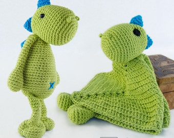 Combo Pack - Dino Lovey and Amigurumi Set for 7.99 Dollars - PDF Crochet Pattern - Instant Download - Special Offer Pattern Pack Animal