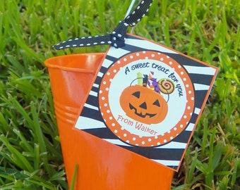 Halloween Party Treat Tags, Favor Tags, or Labels Printable - Trick or Treat Collection