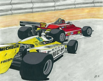 Villeneuve v. Arnoux - Rivalry Series Part 6 - Print