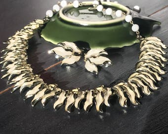 Vintage Coro Necklace and Earrings Set