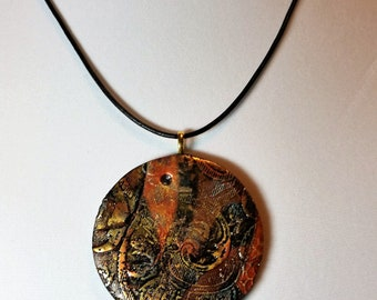 Abstract Paisley Pendant I Necklace