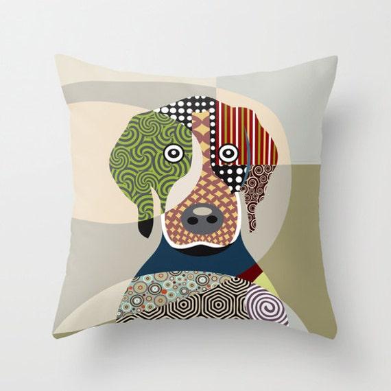 Beagle Pillow, Beagle Gift, Dog Lover Gift,  Dog Lover Pillow,  Beagle Throw Pillow Cover,  Dog Throw Pillow
