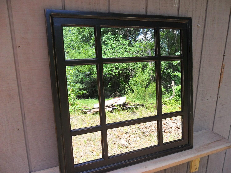 Negro Plaza ventana espejo casa agobiados 30 x 30 espejo de