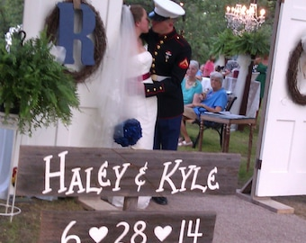 Rustic Wedding Sign / Rustic Personalized Wedding Sign / Name Wedding Sign / Rustic Wedding Decoration / Rustic Wedding Date Sign