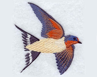 Barn Swallow Embroidered Kitchen Towel | Bird Kitchen Towel | Personalized Kitchen Towel | Embroidered Tea Towel | Embroidered Towel | Bird
