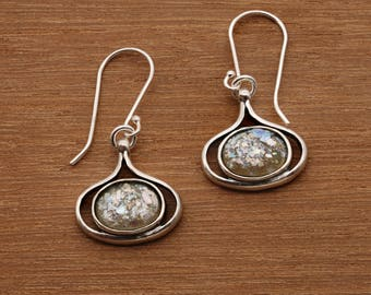 Sterling Silver Drop & Dangle Earrings Druzy Opal Earrings