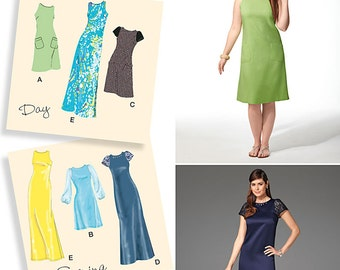 Simplicity Pattern 1357 Misses' and Miss Plus Dress in Two Lengths