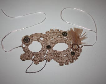 Steampunk Gears Cosplay Lace Mask