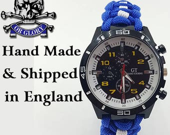 17th-21st Royal Lancers Paracord Watch