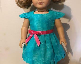 Teal Sparkle Party Dress