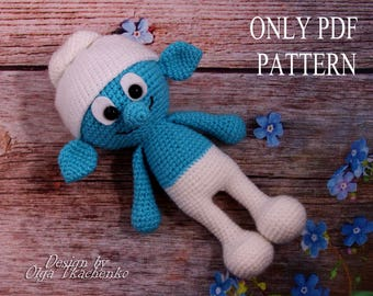PDF PATTERN Toy Smurf crochet pdf amigurumi pattern pdf doll toy pdf pattern smurf pattern crochet pdf pattern amigurumi toy