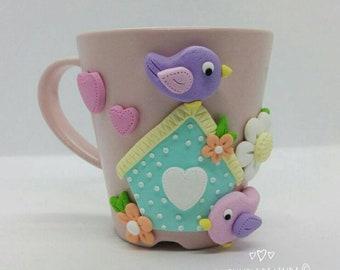 Mug with birds